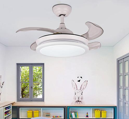 现代时尚Y3612简约北欧隐形吊扇灯