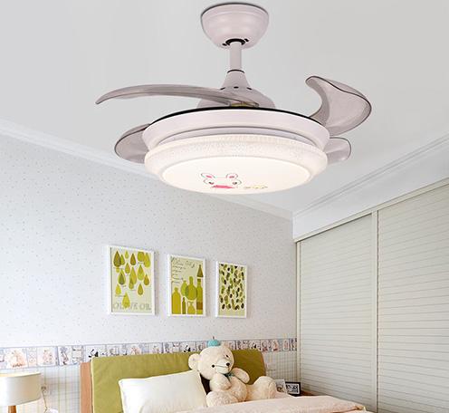 隐形卧室风扇灯