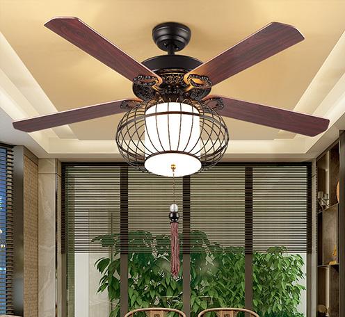 新中式灯笼风扇灯