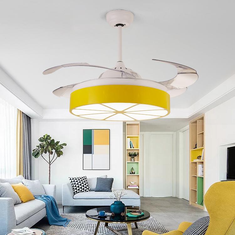 海南马卡龙创意风扇灯