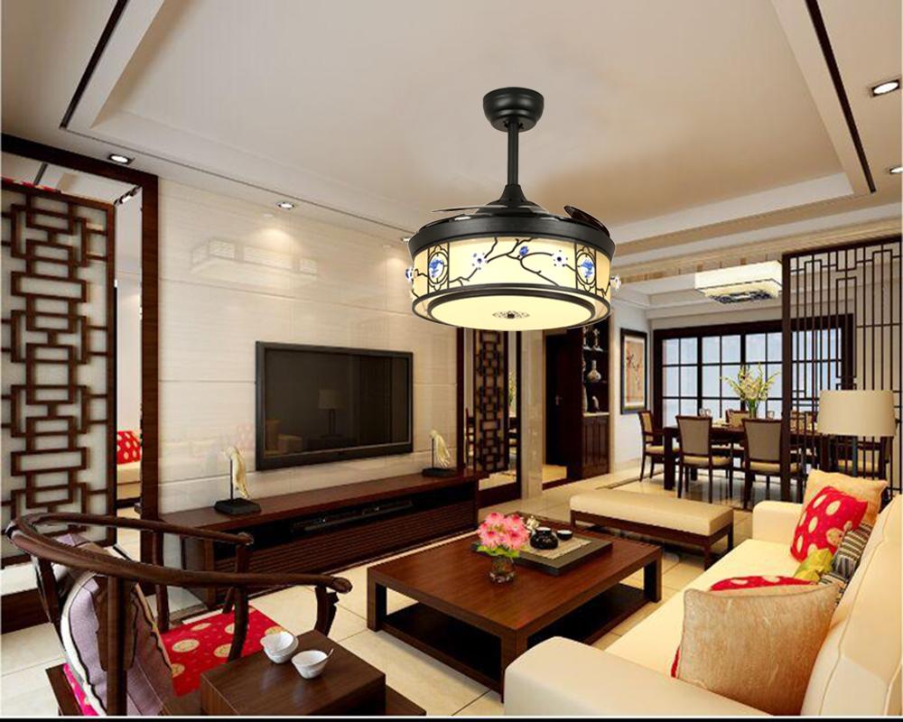 花纹浮雕造型中式风现代简约4270隐形吊扇灯