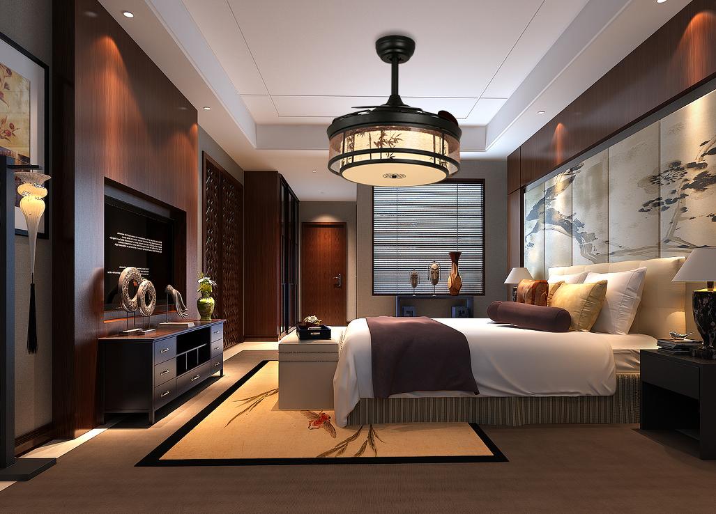 轻奢中式风4271现代时尚简约隐形吊扇灯