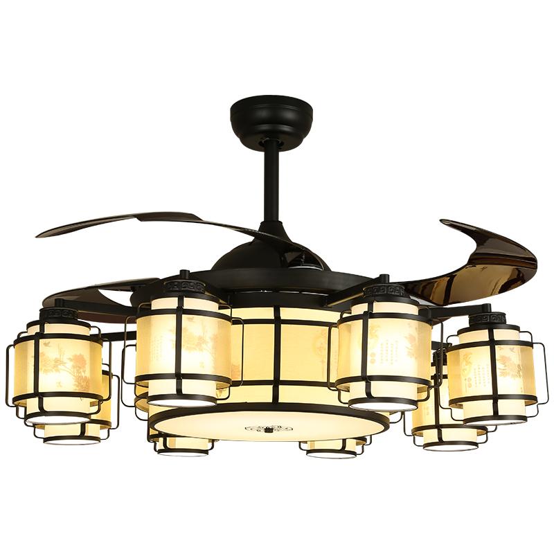 复古中式跟现代化的结合时尚简约隐形吊扇灯