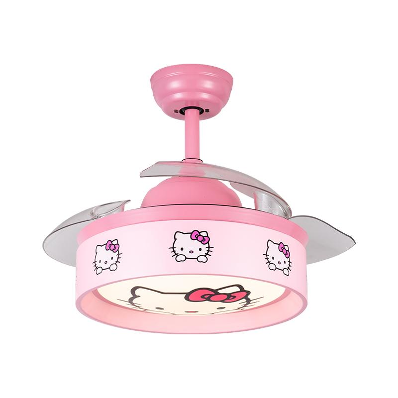 儿童吊扇灯现代时尚简约隐形吊扇灯