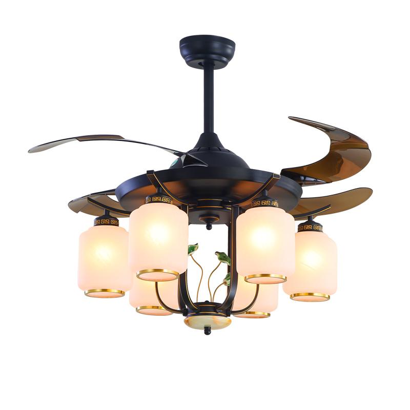 新中式设计现代简约Y42150隐形吊扇灯客厅卧室餐厅
