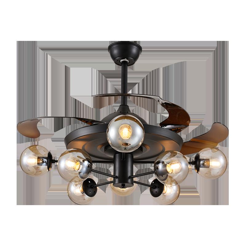 北欧风时尚简约款Y42181-2隐形吊扇灯客厅