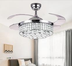 水晶风扇灯