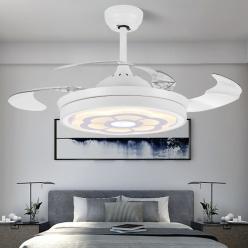 现代简约隐形风扇灯