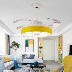 马卡龙创意风扇灯