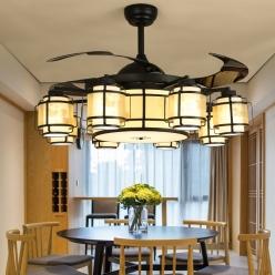 中式吊扇灯