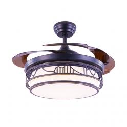 复古黑4234中式风现代时尚简约隐形吊扇灯