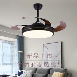 时尚现代简约4293黑色隐形吊扇灯