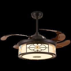金典花型5038-5039复古现代的结合时尚简约隐形吊扇灯