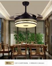 中式金典风现代简约复古8853隐形吊扇灯