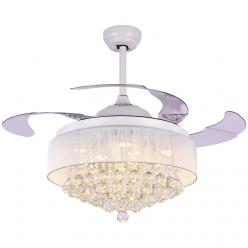 多种颜色可选4201北欧时尚水晶吊扇灯