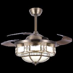 欧式美式Y42103轻奢时尚隐形吊扇灯