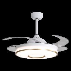 现代设计简约时尚Y42116金42寸客厅卧室餐厅隐形吊扇灯