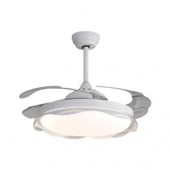 两色可选现代时尚简约风Y42121卧室客厅餐厅42寸隐形吊扇灯