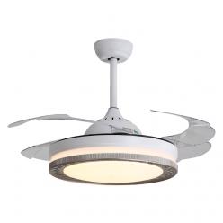 设计简约现代时尚简式风42寸Y42129隐形吊扇灯客厅卧室餐厅