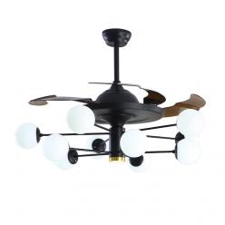 现代风时尚简约款Y42150隐形吊扇灯客厅卧室餐厅