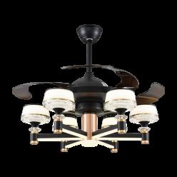 现代风时尚简约款Y42177隐形吊扇灯客厅