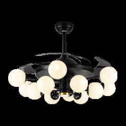 北欧风时尚简约款Y42180隐形吊扇灯客厅