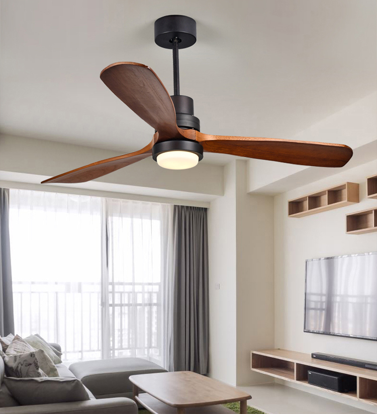 New Product Ideas 2018 Modern Fan Ceiling Solid Wood Blades Ceiling Fan With Light And Remote